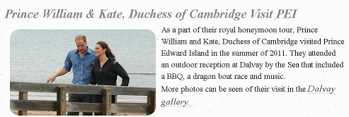 William and Kate visiting Dalvay by the Sea