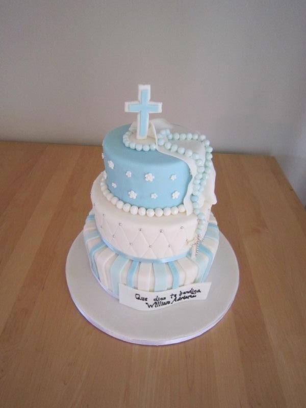 Christening Cake Design Boy : boy baptism cake-3 tier - Gateau de Ville