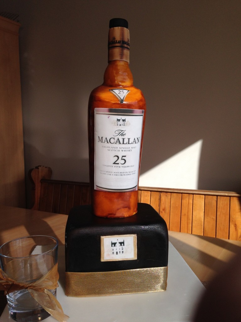 Whisky Bottle Birthday Cake