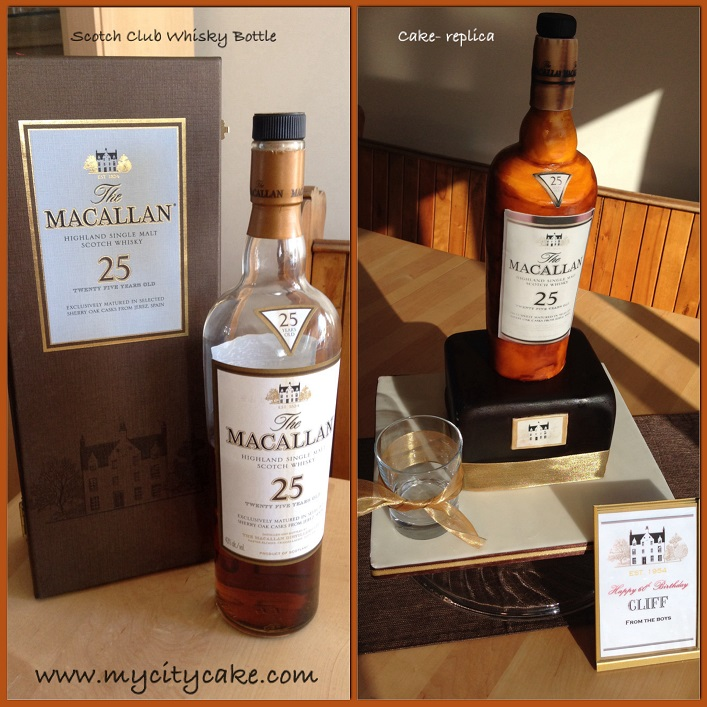 Macallan  25 year Scotch Whisky Cake