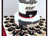 james bond cake and cupcakes
