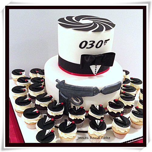 James Bond Birthday Cake