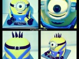minion sculpture cake