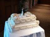wedding cake with swags montreal