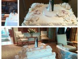 rectangle wedding cake montreal