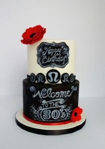 chalkboard cake Montreal