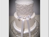 lace wedding cake montreal