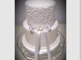lace wedding cake montreal