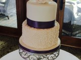 scroll wedding cake montreal
