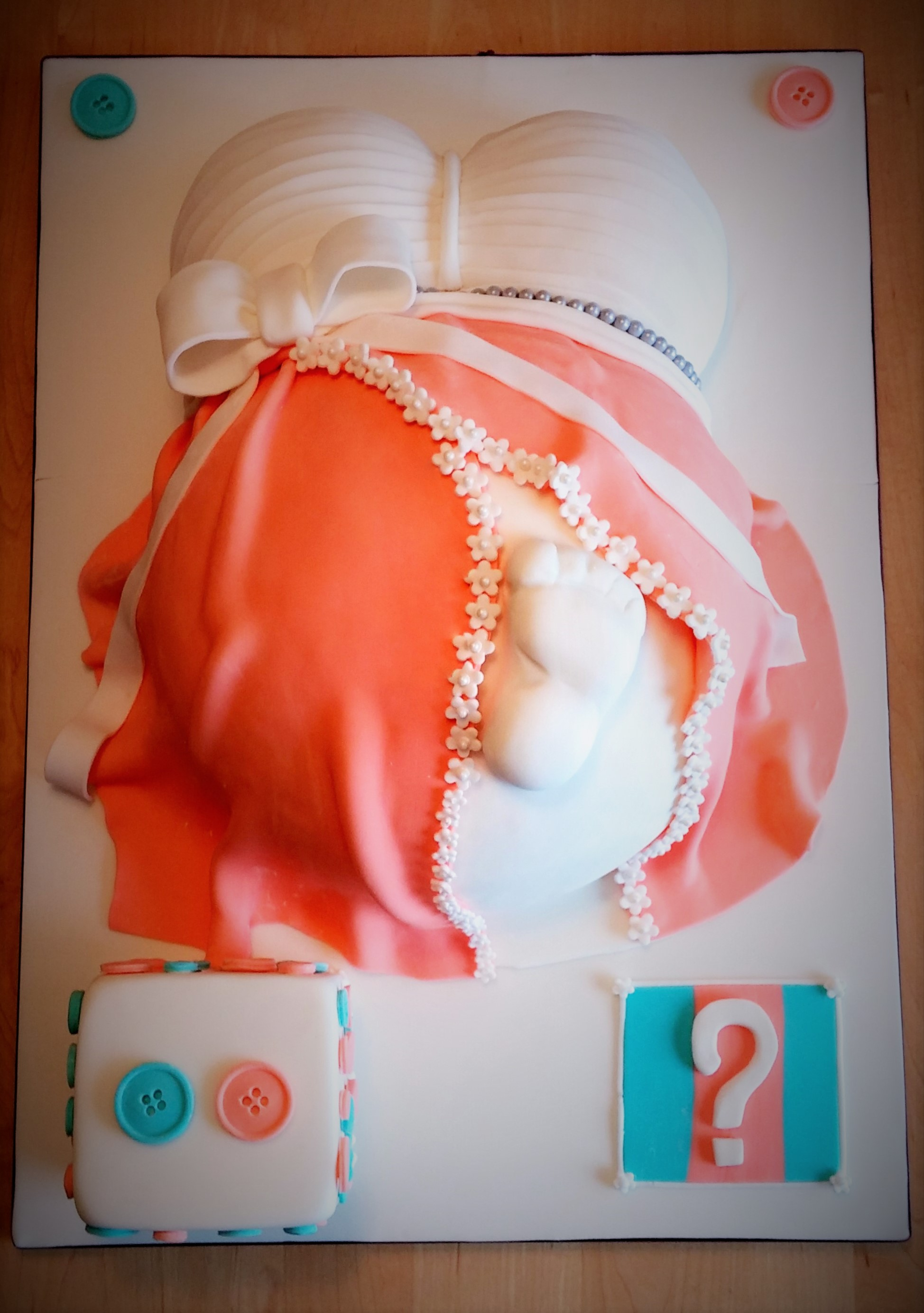 Baby Shower Cake Pregnant Belly Facebook