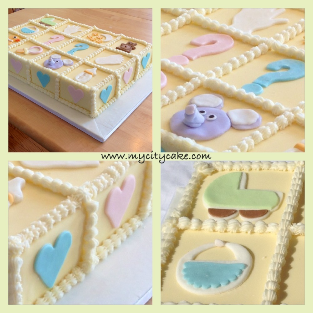Baby Shower Cakes Montreal ~ Baby shower gender reveal cake montreal g teau de ville