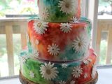 hippie flower wedding cake
