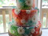 hippie flower wedding cake