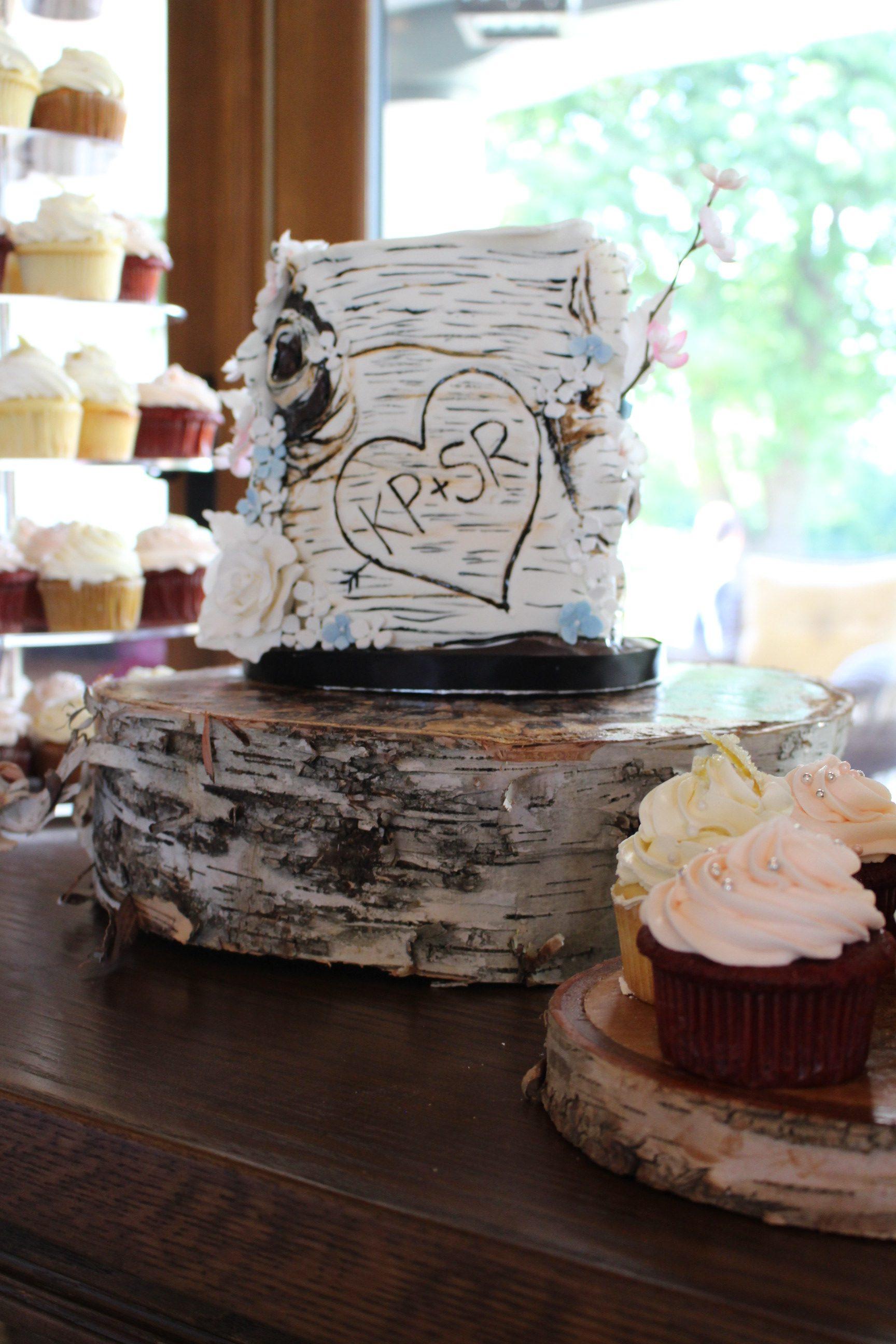 birch wedding cake, My City Cake