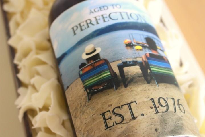 edible image on wine bottle cake, My City Cake
