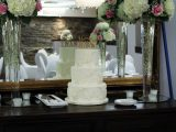 lace applique wedding cake