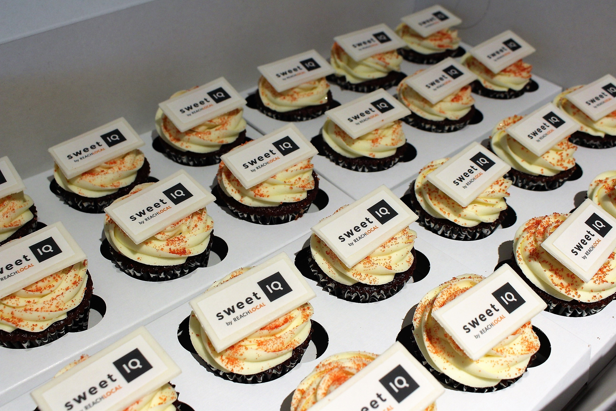 Corporate Cupcakes With Edible Business Card My City Cake