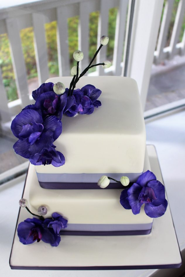 orchid montreal wedding cake